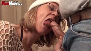 She loves to fuck him with a strap-on