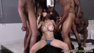 McKenzie Lee in a hot gangbang