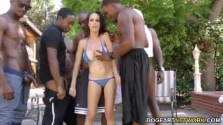 McKenzie Lee in a hot gangbang