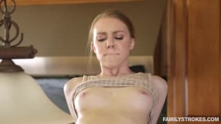 Abi Grace will fuck him in the kitchen