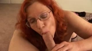This ginger milf just wants to suck