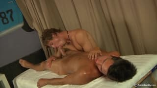 Jimmy and Chris in a sensual massage