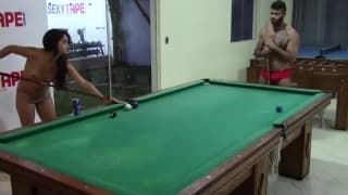 This is a super hot session on the pool table