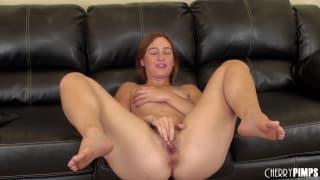 Jodi Taylor rubs her pussy hard to orgasm