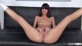 Katie Jordin fingers her own pussy