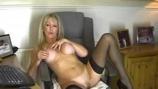 This blonde milf loves to fuck herself