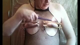 This guy loves to tease himself with pegs