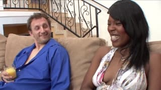Sex practice with stepdaddy on the couch