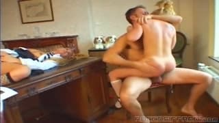 Rocco Siffredi pounds this young blonde