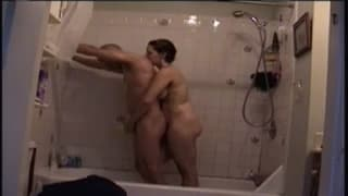 Sharing a shower together for fun