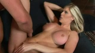Blonde with big tits gets banged