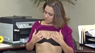 Viola Starr masturbates at work today