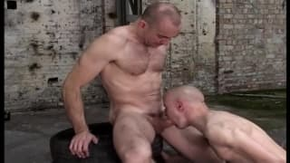 Two gay men who love it hard in the ass
