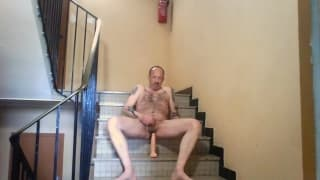A mature guy fucks his own ass