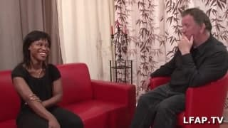Black girl on casting couch loves it