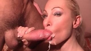 This bitch has two dicks inside her holes