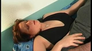 Horny brunette takes a good clit licking