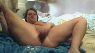 A slut who fucks her pussy with a toy