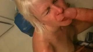 This kinky blonde sucks like a professional