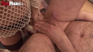 Granny has a strap-on in her xmas stocking