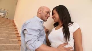 Brunette babe satisfies her man completely
