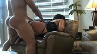 He bangs her while on the chair