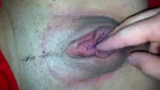 First he puts his finger in and then his cock