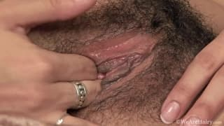 Luna Monroe loves her hairy pussy