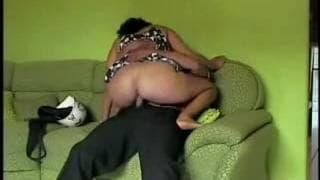 She sucks him and gets shagged hard