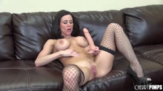 Kendra Lust fucks herself with a dildo