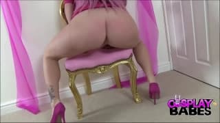 Yuffie Yulan is a curvy slut masturbating