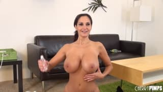 Ava Addams enjoys her new toy with us