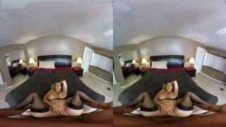 Julia Ann opens her legs for Chad White