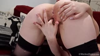Daniella shows us her hairy cunt