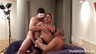 It's Anja's first porn casting, will she pass