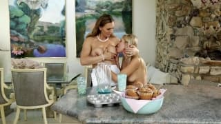 Scarlett and Tanya get busy in the kitchen
