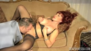 A redhead milf who makes the most of him