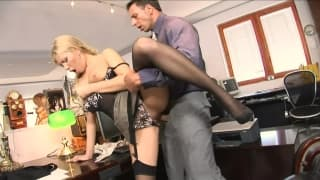 This secretary just wants to please her boss