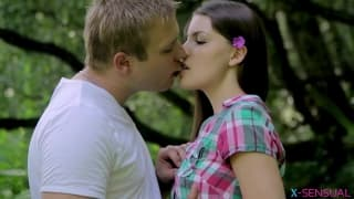 Zena Little is fucking while in the nature
