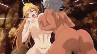 Big girl and big tits fucked by monsters