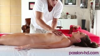 This girl orders extras with her massage