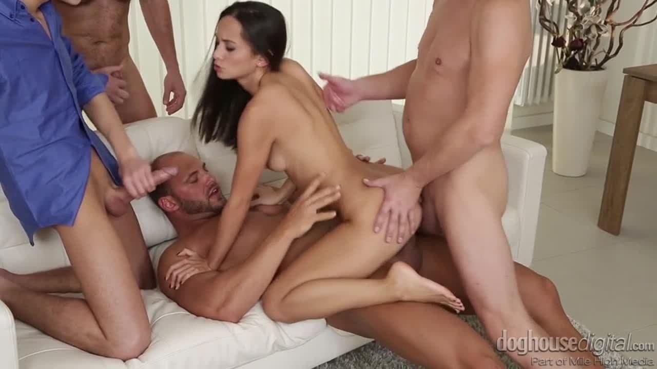 2 Hombres Y 1 Mujer Porno 4 men on 1 lady gangbang with shrima malati