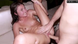 Adria Rae in a nocturnal sexual adventure
