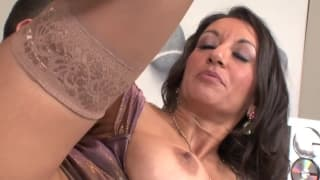 This milf has a hairy pussy that gets fucked