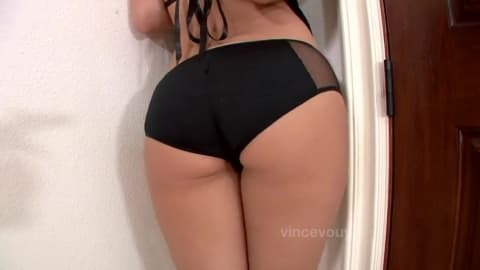 A brunette babe who loves anal fucking