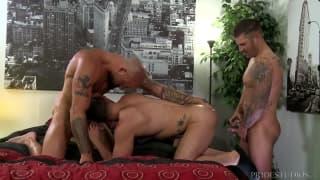 Sean, Fernando and Caleb sodomise together