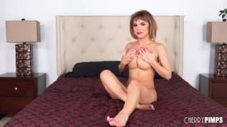 Cute bitch sits on her boyfriends cock