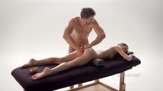 A very nice and sensual massage for her