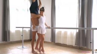 A pretty ballerina who loves a hard fuck