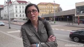 This Czech woman will fuck anywhere!